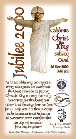 Christ the King prayercard